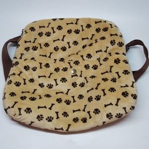 Childs Small Backpack Velvet soft Paws & Bones